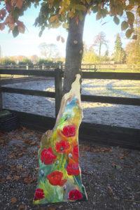 Papavers op een houten plank van 7,5 kilo